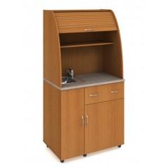 Minikuchyně Office - s dřezem,baterií, lednicí - levá - KU23L