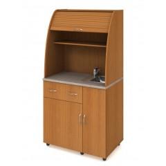Minikuchyně Office - s dřezem,baterií, lednicí - pravá - KU23P