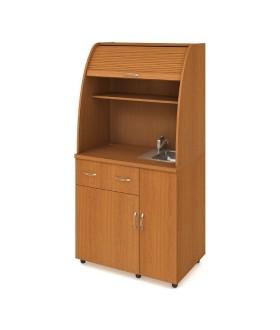 Minikuchyně Office KU 2 1 P - s dřezem a baterií pravá