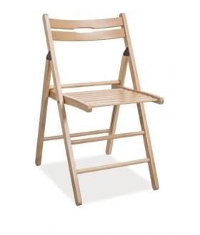 Dřevěná sklápěcí židle Smart přírodní