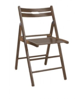 Dřevěná sklápěcí židle Smart tmavý ořech