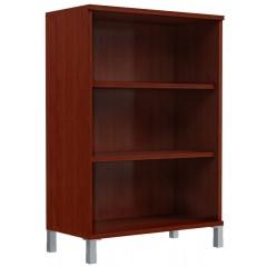 Kancelářská policová skříň BORN - výška  128 cm  - B4201 - 4 barevné varianty