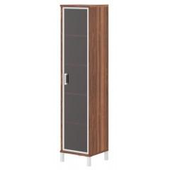 Kancelářská policová skříň BORN se skklem  - výška 205 cm  - B4318R- 4 barevné varianty