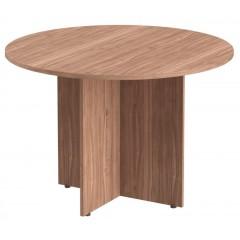 Jednací stůl IMAGO - průměr 110 cm - PRG1 - výběr dekoru