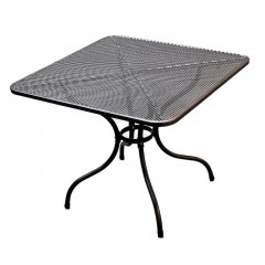 Kovový zahradní stůl  čtverec U504 - 90x90 cm