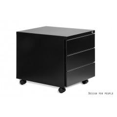 Mobilní kontejner Uni-Q 3zásuvkový - černý