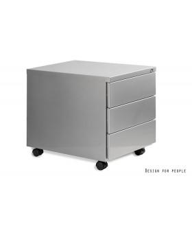 Mobilní kontejner Uni-Q 3zásuvkový - stříbrný