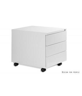 Mobilní kontejner Uni-Q 3zásuvkový - bílý