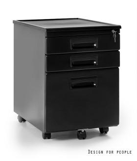 Mobilní kontejner Uni-Q  324 3zásuvkový - černý