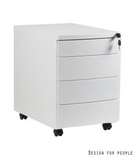 Mobilní kontejner Uni-Q 4zásuvkový - bílý