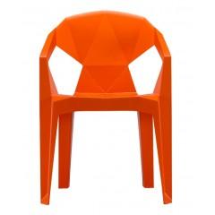 Plastová židle MUZE - oranžová