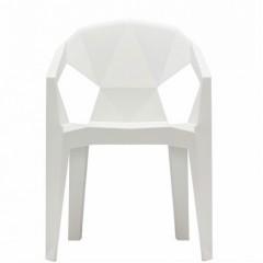 Plastová židle MUZE - bílá
