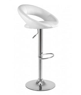 Otočná barová židle CARINO - bílá