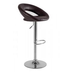 Otočná barová židle CARINO - hnědá