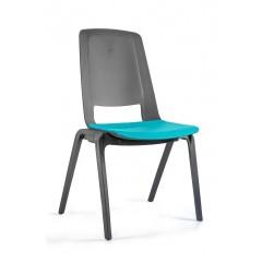 Plastová židle FILA - modrozelená