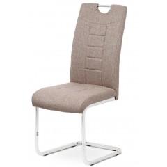 Jídelní čalouněná židle DCL404 - kávová