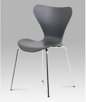 Jídelní židle plastová AURORA GREY