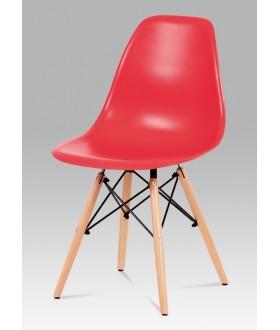 Jídelní židle plastová CT-758 RED