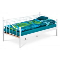 Kovová postel VINTAGE - bílá