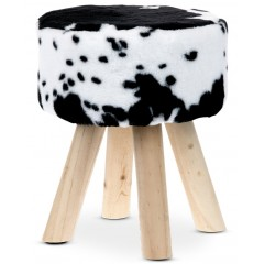 Taburet COW - černobílý