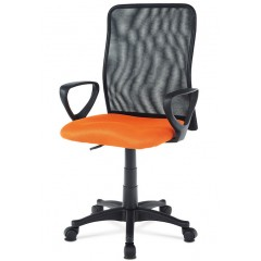 Kancelářská židle KA-B047 oranžová