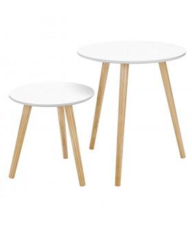 Kulatý servírovací stolek LET07WN - 2ks