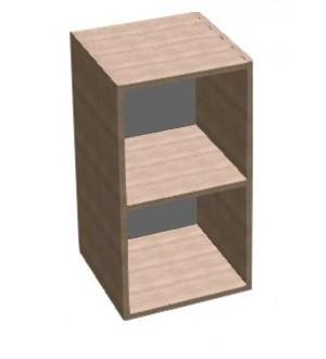 Kancelářská skříň SQUARE  policová úzká nízká 81,5 cm - MS2004