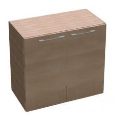 Kancelářská skříň SQUARE policová 2dveřová nízká 81,5 cm - MS2108