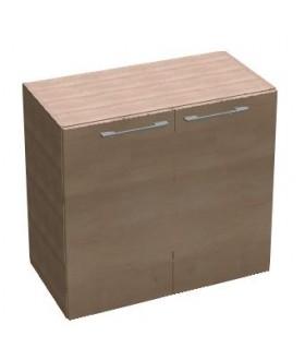 Kancelářská skříň SQUARE policová 2dveřová nízká 81,5 cm