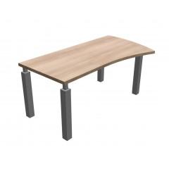 Kancelářský stůl SQUARE tvarový pravý -  220x100/80 cm - MS4122P