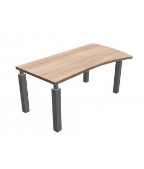 Kancelářský stůl SQUARE tvarový pravý -  180x100/80 cm - MS4118P