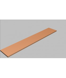 Krycí deska rovná Square 240 cm - MS0240
