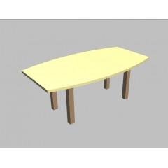 Jednací stůl Square sud - 200x110/80 cm - MS0532