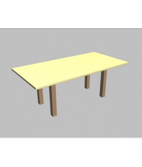 Jednací stůl Square rovný - 200x100 cm - MS1220