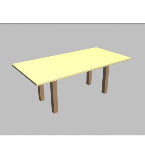 Jednací stůl Square rovný - 200x100 cm