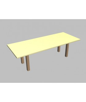Jednací stůl Square rovný - 260x100 cm - MS1226