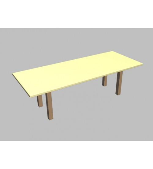 Jednací stůl Square rovný - 260x100 cm
