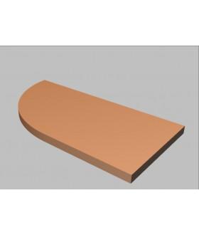 Krycí deska tvarová Square 80 cm - levá - MS2080L