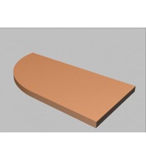 Krycí deska tvarová Square 80 cm - levá