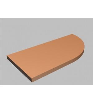 Krycí deska tvarová Square 80 cm - pravá