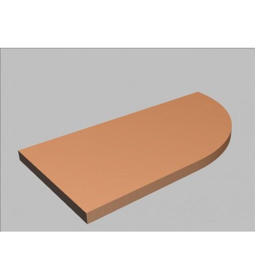 Krycí deska tvarová Square 80 cm - pravá - MS2080R