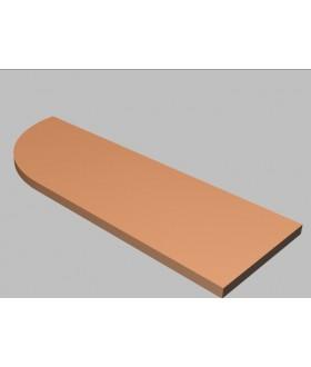 Krycí deska tvarová Square 120 cm - levá - MS2120L