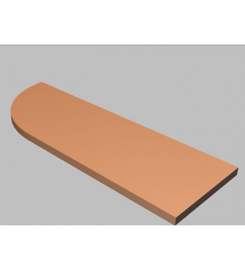 Krycí deska tvarová Square 120 cm - levá