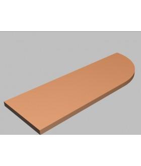 Krycí deska tvarová Square 120 cm - pravá - MS2120R