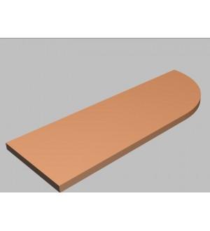 Krycí deska tvarová Square 120 cm - pravá