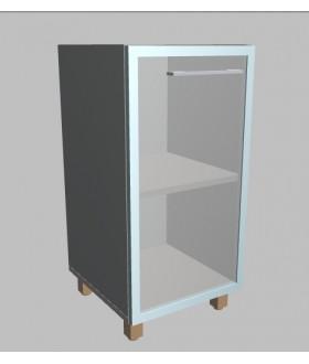 Kancelářská skříň Square prosklená úzká nízká 81,5 cm - levá