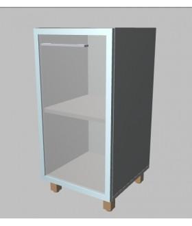 Kancelářská skříň  prosklená úzká nízká 81,5 cm - pravá - MS2124R