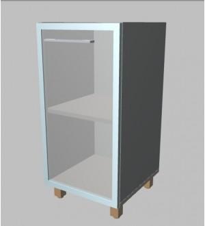 Kancelářská skříň  prosklená úzká nízká 81,5 cm - pravá