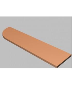 Krycí deska tvarová Square 160 cm - levá - MS2160L