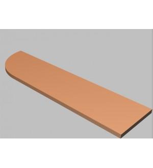 Krycí deska tvarová Square 160 cm - levá